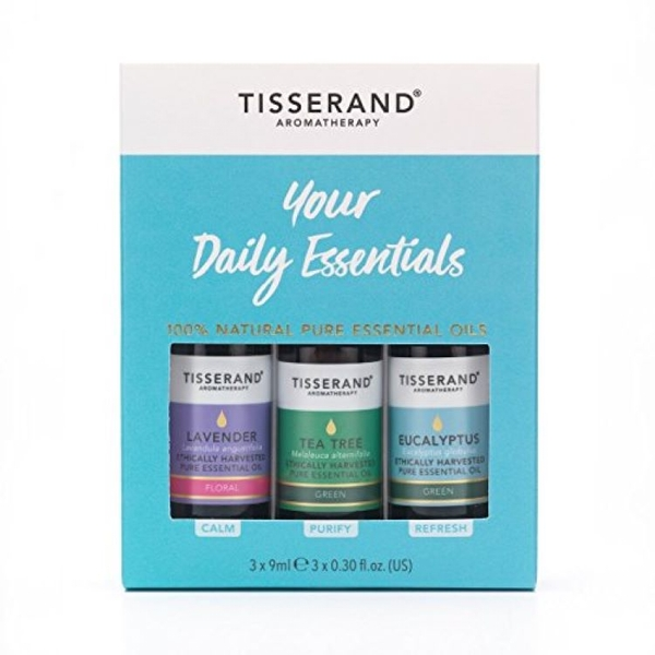 Tisserand Aromatherapy Essential Kit Tea Tree, Eucalyptus & Lavender (3x9ml)