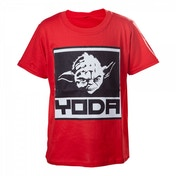 Star Wars Kids Boys Yoda Framed Closeup 110/116 Red T-Shirt