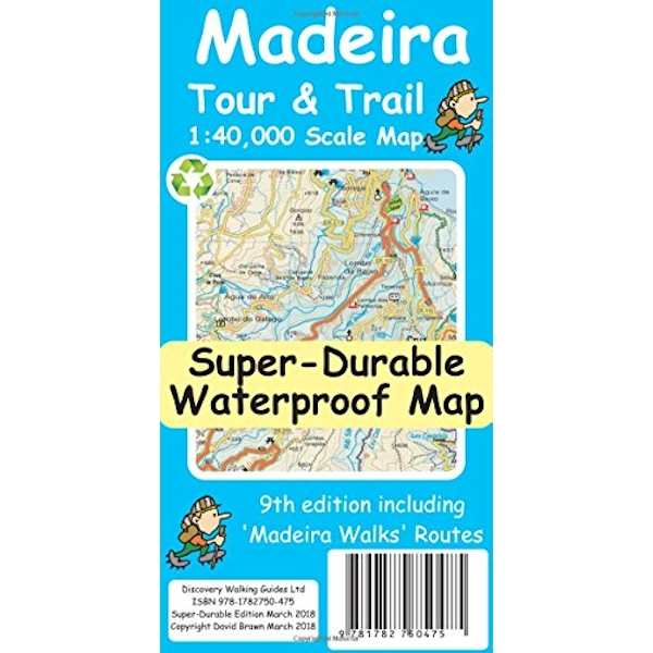 Madeira Tour & Trail Super-Durable Map  Paperback / softback 2018