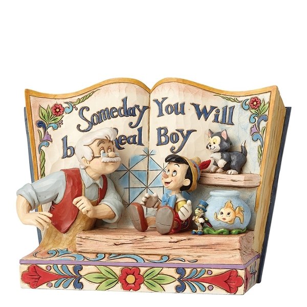 Disney Traditions Someday You Will Be A Real Boy Storybook Pinocchio Figurine