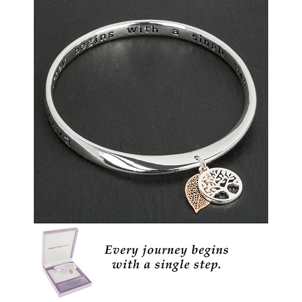 Equilibrium 2 Tone Tree of Life Bangle Journey