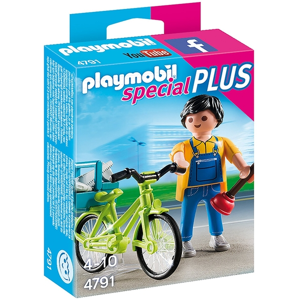 Playmobil Special Plus Handyman with Bike