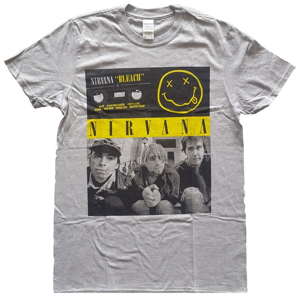 Nirvana - Bleach Cassettes Unisex XX-Large T-Shirt - Grey