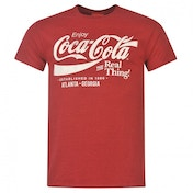 Coca-Cola Drink T-shirt Mens Red Large