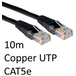 RJ45 (M) to RJ45 (M) CAT5e 10m Black OEM Moulded Boot Copper UTP Network Cable - Image 2
