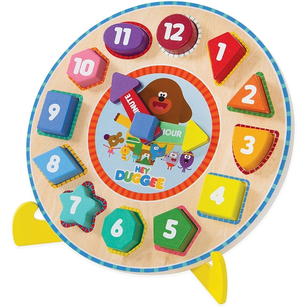 Hey Duggee Puzzle Clock with Stand Activity Toy