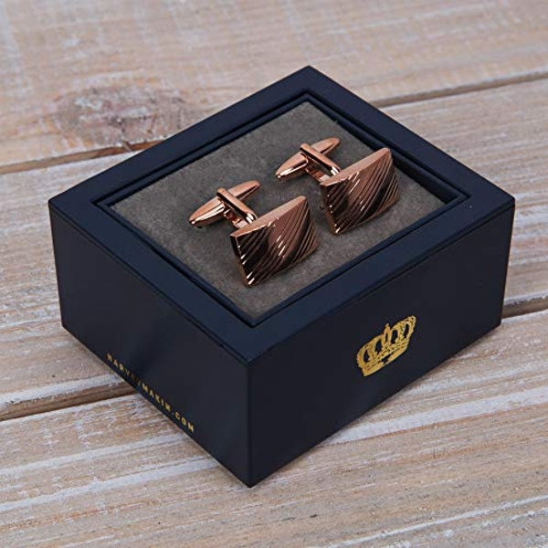 Harvey Makin Rose Gold Finish Cufflinks