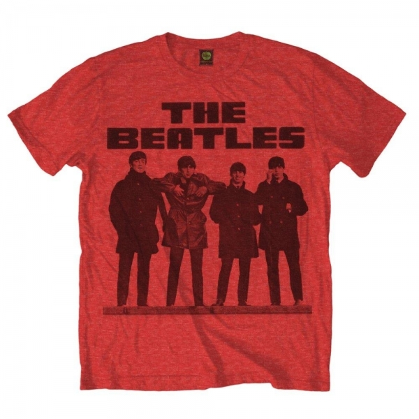 The Beatles Long Tall Mens Red T-Shirt Small