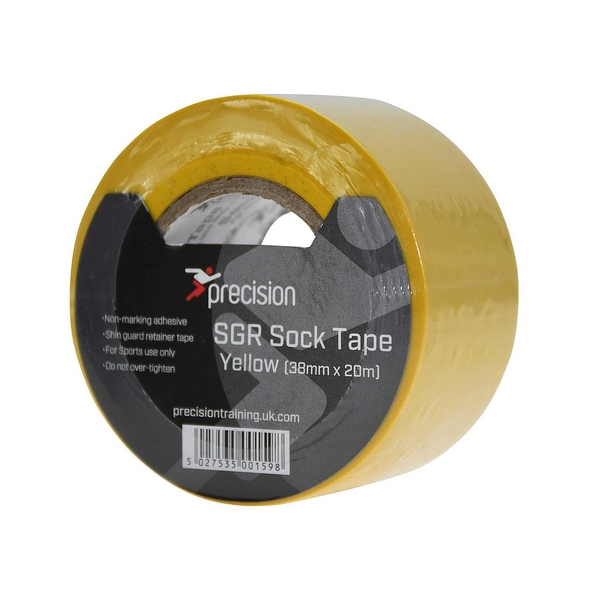 Precision SGR Sock Tape 38mm (Pack of 5) - Yellow