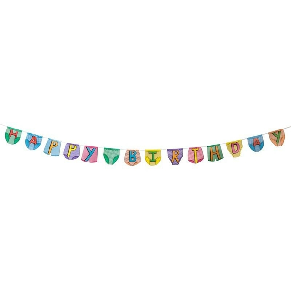 Party Pants Bunting Happy Birthday