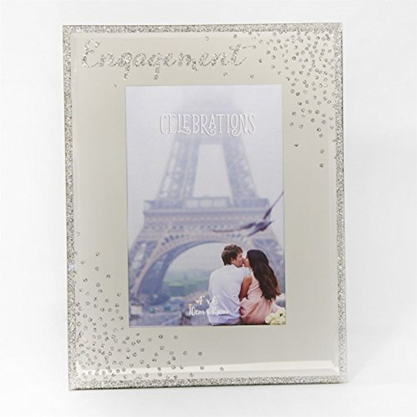 "4"" x 6"" - Celebrations Glass Sparkle Frame - Engagement"