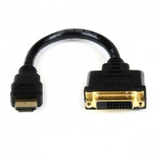 StarTech HDMI to DVI-D 8 inch Video Cable Adaptor - HDMI Male to DVI Female
