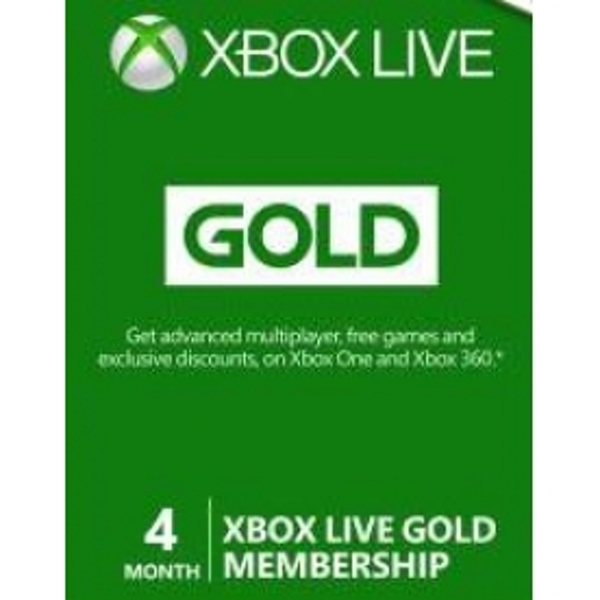 Xbox Live Gold 3 + 1 Months Membership Card Xbox 360 - Image 2