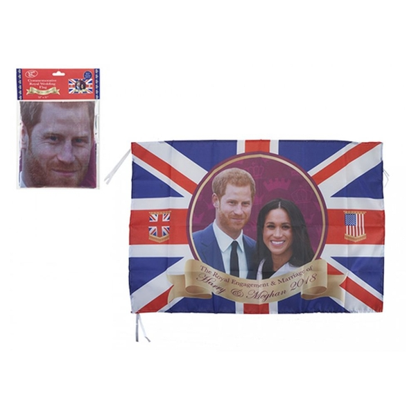 Royal Couple 80 X 133 cm Rayon Flag with Grommets