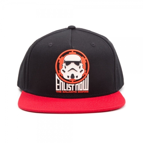 0ed67ec012af1 Hey! Stay with us... Star Wars Enlist Now! The Galactic Empire Stormtrooper  Logo Snapback Baseball Cap