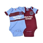 West Ham Two Pack Body Suit Home and Away 12-18 Months