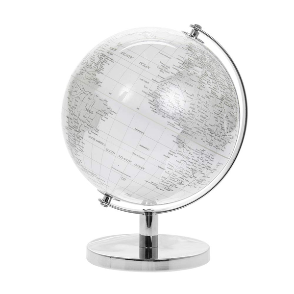 Globe Silver & White By Lesser & Pavey