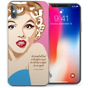 CASEFLEX APPLE IPHONE X MARILYN MONROE FEAR IS STUPID QUOTE CASE / COVER (3D)