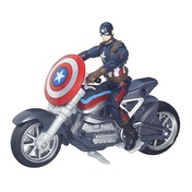 Captain America with Motorcycle Legends Series Action Figure