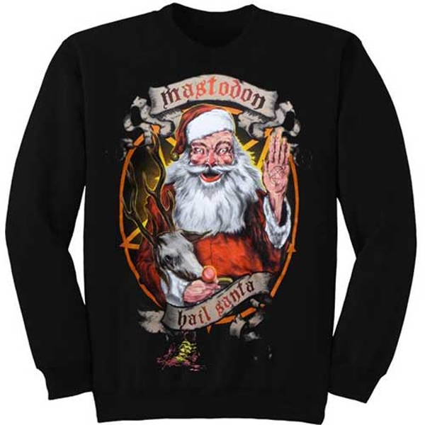 Mastodon - Hail Santa Holiday Unisex Medium Sweatshirt - Black