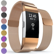 Proworks FitBit Charge 2 Milanese Metal Strap - Rose Gold