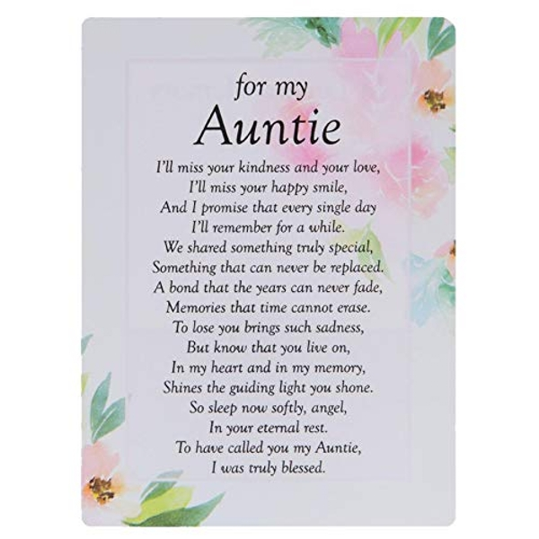 Graveside Memorial Cards - For My Auntie