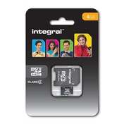 Integral Micro Secure Digital Card 4GB with SD Adaptor High Capacity