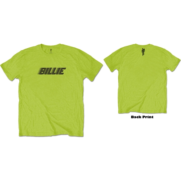 Billie Eilish - Racer Logo & Blohsh Unisex XX-Large T-Shirt - Green