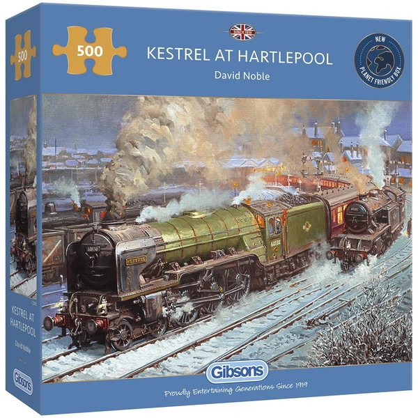 Gibsons Kestrel at Hartlepool 500 Piece Jigsaw Puzzle - Image 1