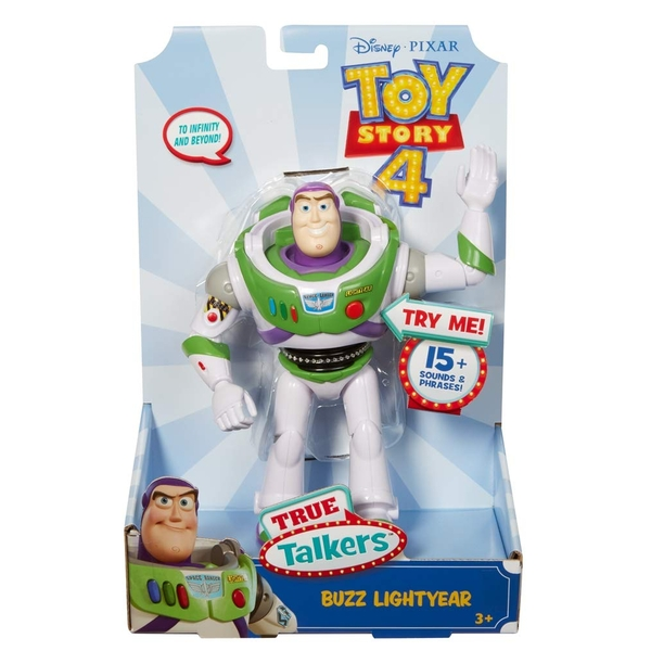Disney Pixar Toy Story 4 True Talkers 7 Inch Figure - Buzz - Image 1