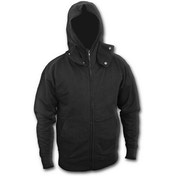 Metall Streetwear High Zip Poppers Men's Small Hoodie - Black