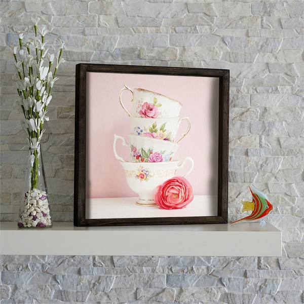 KZM595 Multicolor Decorative Framed MDF Painting