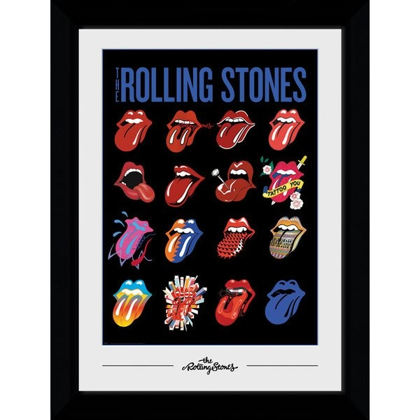 Rolling Stones Tongues 50 x 70 Collector Print