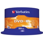 Verbatim DVD-R Matt Silver 4.7GB DVD-R 50pc(s)