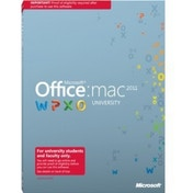 Microsoft Office Mac University 2011 w/SP1 Complete Package 1 PC 1 Portable Device of the Same User EDU DVD Mac English W6L-00001