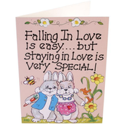 Pack of 6 Falling In Love Smiley Cards