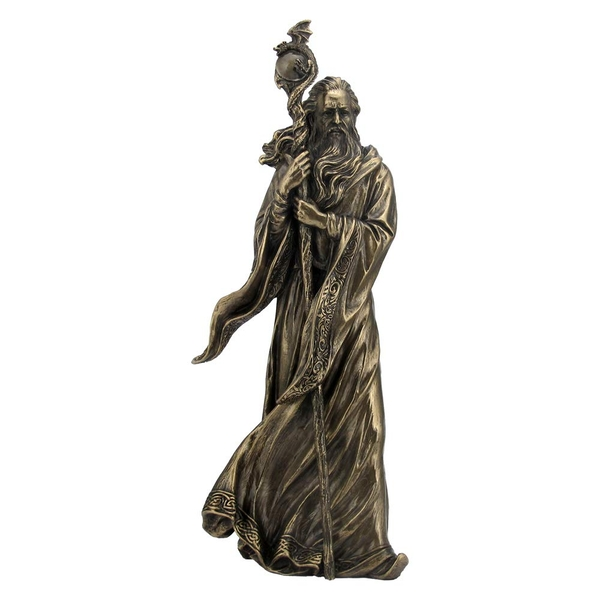 Bronze Merlin Figurine