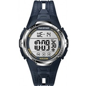 Timex Unisex Digital Watch with LCD Dial Digital Display and Blue Resin Strap T5K804
