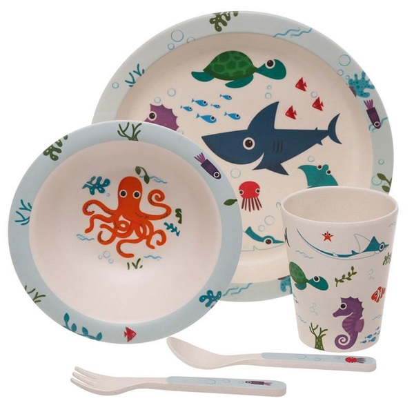 Splosh Sealife Reusable Bamboo Composite Kids Set
