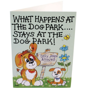 Pack of 6 What Happens At The Dog Park Smiley Cards