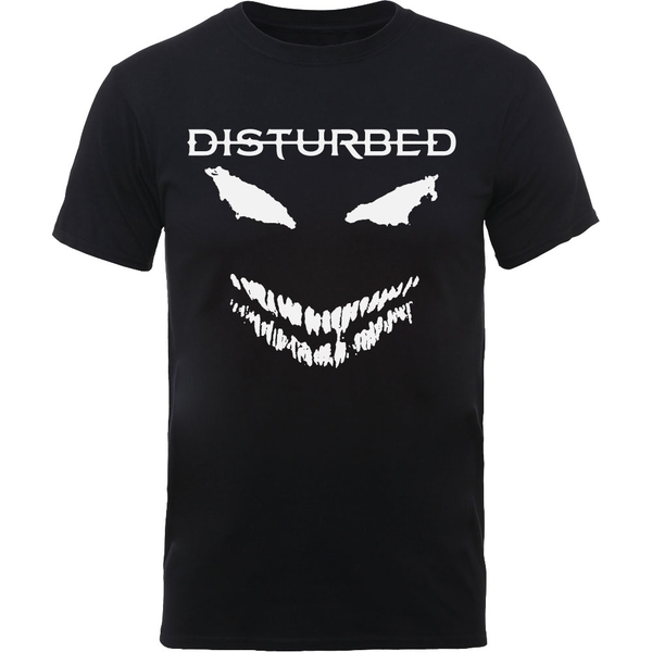 Disturbed - Scary Face Candle Unisex Large T-Shirt - Black