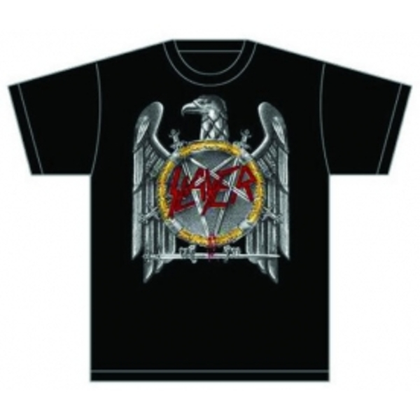 Slayer (Silver) Eagle Mens T Shirt: X Large