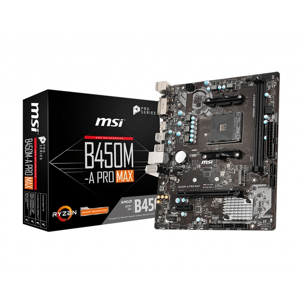 Image of MSI B450M-A PRO MAX motherboard Socket AM4 Micro ATX AMD B450