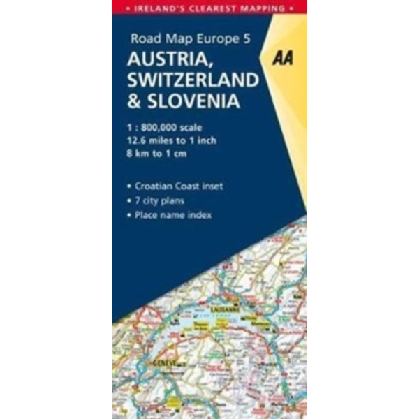 5. Austria, Switzerland & Slovenia : AA Road Map Europe