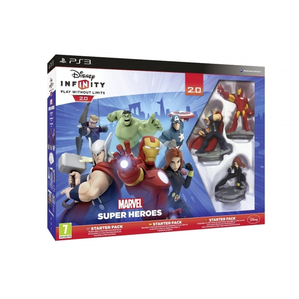 Disney Infinity 2.0 Marvel Superheroes Starter Pack & PS3 Game