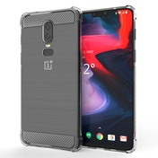 CASEFLEX ONEPLUS 6 CARBON ANTI FALL TPU CASE - CLEAR