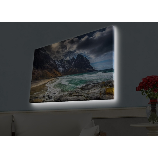 4570HDACT-020 Multicolor Decorative Led Lighted Canvas Painting