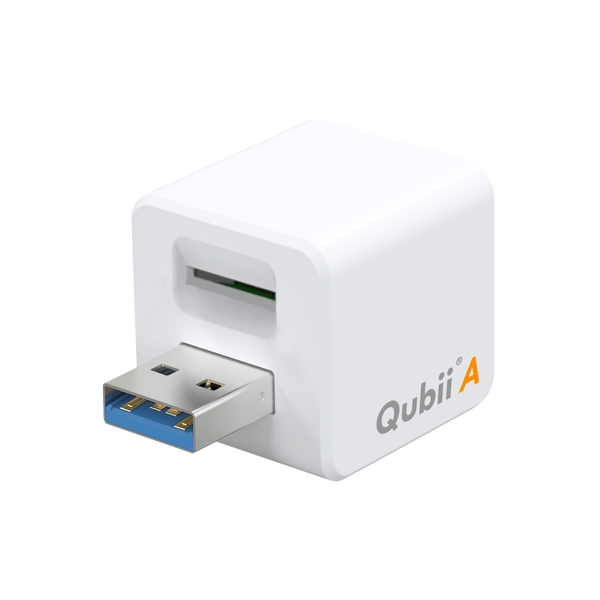 Maktar Qubii Auto Backup and Charging for Android Device - MicroSD Slot