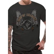 Sons Of Anarchy Winged Logo T-Shirt Small - Black