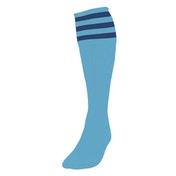 Precision 3 Stripe Football Socks Mens Sky/Navy